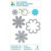 Momenta Cut and Emboss Die, Small Flowers