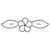 10cm x 2.5cm Small Flower Quilting Stencil by QCI - 179