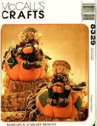 McCall's 8329 18cm Pumpkin, Boy, Girl Scarecrow Pattern Uncut