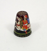 Russian Hand Painted Lacquer Thimble IVAN TSAREVICH #1418
