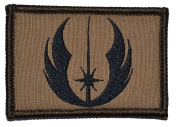 Jedi Order - 2x3 Morale Military Funny Patch - Coyote Brown with Black