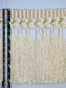 14cm Superior Silky Braid Tassel Bullion Fringe Trim Gold Per Yard