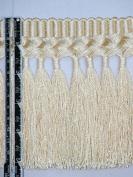14cm Superior Silky Braid Tassel Bullion Fringe Trim Gold Per Yard