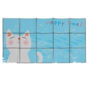 Blue White Fish Pattern Kitchen Sheet Window Sticker Art Decal Decor