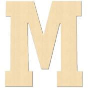 Baltic Birch University Font Letters & Numbers 13cm -Letter M