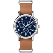 Timex Unisex Weekender Forty Watch, Tan Slip-Thru Leather Strap