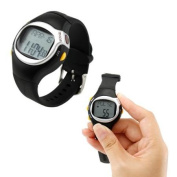 Black LED Pulse Heart Rate Heartbeat Monitor Calories Counter Fitness Watch Brand