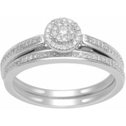 Imperial 1/4 Carat T.W. Diamond 10kt White Gold Single Halo Engagement Ring Set