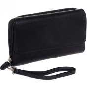 Mundi Womens My Big Fat RFID Wallet Clutch w/ Wrist Strap