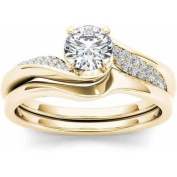 Imperial 5/8 Carat T.W. Diamond Classic 14kt Yellow Gold Engagement Ring Set