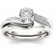 Imperial 5/8 Carat T.W. Diamond Classic 14kt White Gold Engagement Ring Set