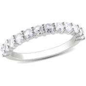 Miabella 1-1/10 Carat T.G.W. Created White Sapphire Sterling Silver Wedding Band
