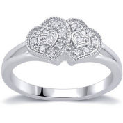 1/10 Carat T.W. Diamond Sterling Silver Promise Ring