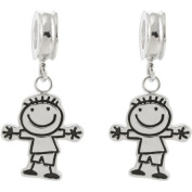 Connexions from Hallmark Stainless Steel Boy Dangle Charm Set