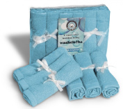 Washcloths All Natural Cleaning Wipes, Reusable Soft Organic Cotton Bamboo Towels, Non-Allergic Gentle for Eczema Absorbent Eco Friendly, Baby Shower Ideas, Best Mom Gift 6 Pack in Pink, Blue or White