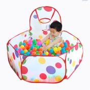 Maxmaxi Portable Folding Colourful Polka Dot Children Play Playpen Pools