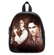 Custom The Vampire Diaries Damon Ian Somerhalder Kid's Black Backpack School Black Bag