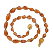Natural Baltic Amber Teething Necklace in Honey Colour (Polished) 28cm - 29cm