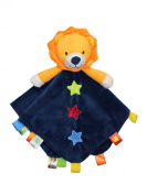 Taggies Rattle Head Lion Baby Boy Plush Security Blanket Lovie by Taggies - Navy