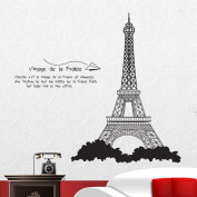 Fange DIY Removable French Eiffel Tower Paris France Art Mural Vinyl Wall Stickers Livingroom Decor Bedroom Decal Sticker Wallpaper 100cm x 90cm