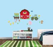 Barn Wall Decal, Farm Wall Decal for Little Kids Nursery, Farm Animal Stickers
