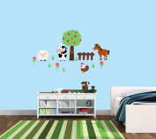 Farm Decals, with Tree Decal, Cow Wall Decals, Baby Boys Room