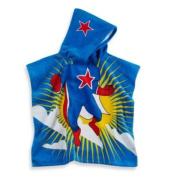 Kids Printed Superhero Hooded Beach Towel In Multi/blue