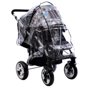 DDLBiz Baby Stroller Rain Covers Waterproof High Landscape Baby Car Shield