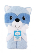 Luvable Friends Animal Face Hooded Woven Terry Baby Towel N/A Racoon