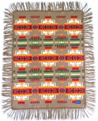Pendleton Chief Joseph Fringed Muchacha Shawl Baby Blanket - Khaki