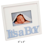 It's a Boy Blue Text Wooden Photo Frame Gift By Haysom Interiors
