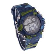 FEITONG(TM) Children Boys Camouflage Swimming Sports Digital Wrist Watch Waterproof