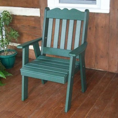 A L Furniture Royal English Poly Recycled Plastic Outdoor Dining Chair