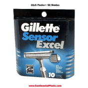 Gillette Sensor Excel Refills - 50 Cartridges