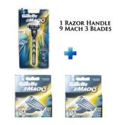 Mach 3- Nine Blade Razor Shaving System- Value Pack