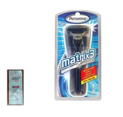 Personna Matrix3 Advanced Triple Blade Razor Handle with FREE Loving Colour trial size conditioner