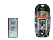 M5 Magnum 5 Razor with Trimmer, 2 Refill Blades and Travel Case with FREE Loving Colour trial size conditioner