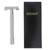 WEISHI 9306FL Long Handle Version HEAVY WEIGHT Butterfly Open Double Edge Safety Razor .