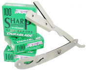 Equinox Professional Barber Straight Edge Razor with 300 HiChromium SWISS Blades