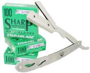 Equinox Professional Barber Straight Edge Razor with 300 HiChromium SWISS Blades