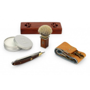 A.P. Donovan - Professional 2.2cm cut throat straight razor - Mahogany - Complete Set