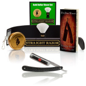 ~Shave Ready~ Shaving Straight Razor 1.9cm GD w/Box 208 Gold Dollar Straight Razor, The Blades Grim Soap, Synthetic Shaving Brush, GB Buckingham Strop - Complete Straight Razor Set