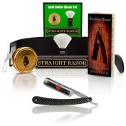 ~Shave Ready~ Shaving Straight Razor 1.9cm GD w/Box 208 Gold Dollar Straight Razor, The Blades Grim Soap, Synthetic Shaving Brush, GB Buckingham Strop - Complete Straight Razor Set
