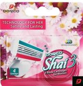 Dorco Shai 3 3Blade Cartridges for Women TRA2040