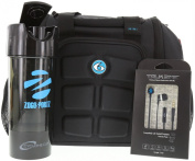6 Pack Fitness Bag Mini Innovator Black/Neon Blue w/Bonus ZogoSportz Cyclone Shaker / T2M2