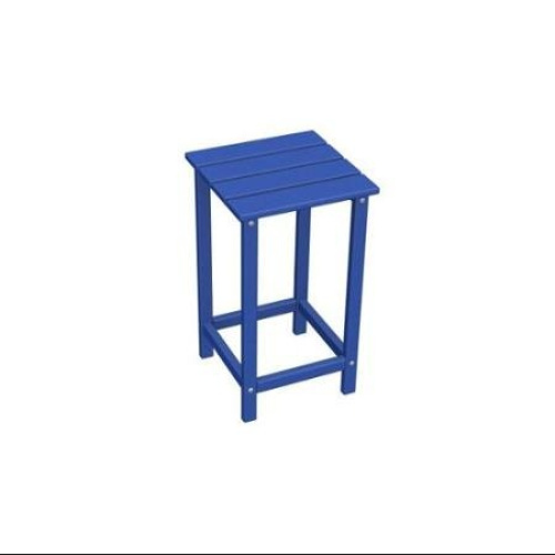 70cm Recycled Earth Friendly Outdoor Patio Square Side Table Pacific Blue