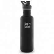 Klean Kanteen Classic 800ml Bottle with 3.0 Sport Cap - Shale Black