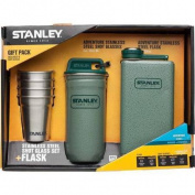 Stanley Adventure Steel Shots and Flask Gift Set, Hammertone Green