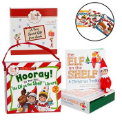 Elf on the Shelf Blue Eyed Boy with Bonus Elf 3-Book First Library Set - Direct From North Pole in Limited Edition Official Gift Box
