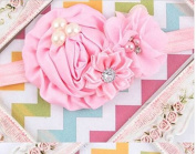 Infant Toddler Baby Headbands Satin Ruffled Flower Headbands Baby Girls Hair Accessories